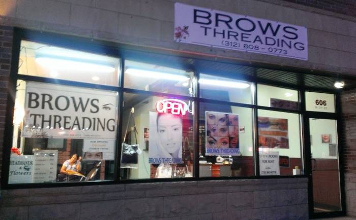 Threading Salon Store Front