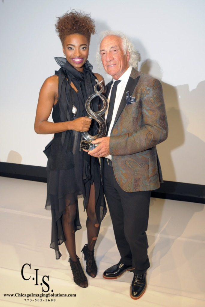 The Winner of 2015 Kaylyn Pryor with Mario Tricoci, the founder of Mario Make Me a Model.